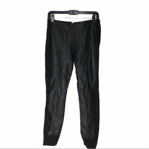 J. Crew Faux Leather Joggers